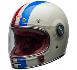 CASQUE Intégral BELL - BULLITT / DLX Burnout Gloss Black/White/Maroon