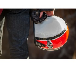 Casque BELL Custom 500 Ace Café Stadium Gloss Silver/Red/Black