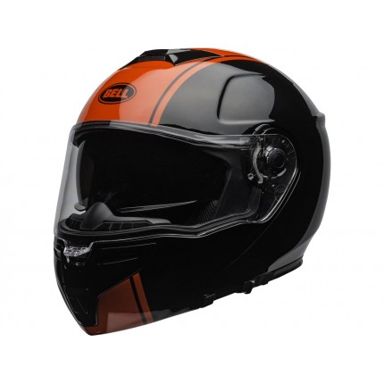 Casque BELL SRT Modular Ribbon Gloss Black/Red
