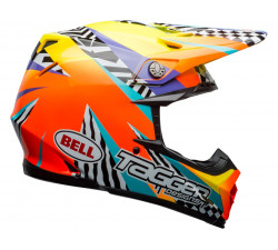 Casque BELL Moto-9 Mips Tagger Breakout Orange/Yellow