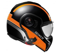 CASQUE MODULABLE ROOF - Boxer V8 MANGA - Noir/Orange mat