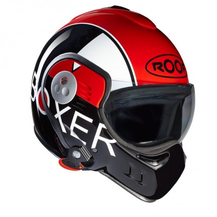 CASQUE MODULABLE ROOF - Boxer V8 GRAFIC - Noir/Rouge