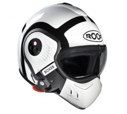 CASQUE MODULABLE ROOF - Boxer V8 BOND - Blanc/Noir