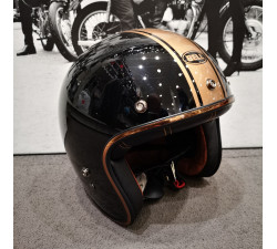 Casque BELL Custom 500 DLX Rally Noir Bronze Gold casque moto vintage