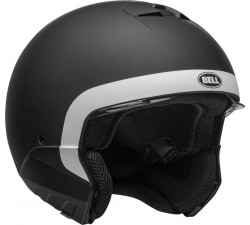 Casque BELL BROOZER Cranium Matte Black/White - transformable