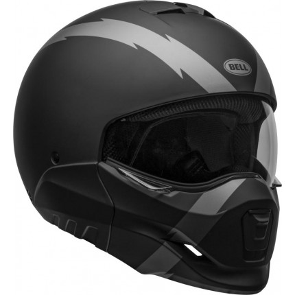 Casque BELL BROOZER Arc Matte Black/Gray - transformable