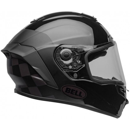 Casque intégral BELL Star DLX Mips Lux Checkers Matte/Gloss Black Root Beer