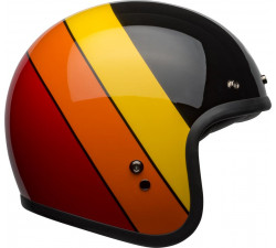Casque Bell Custom 500 Riff gloss black jaune orange rouge arc en ciel