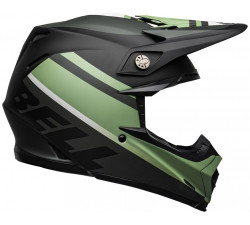 Casque moto cross BELL Moto-9 Mips Prophecy Matte Black dark Green Vert