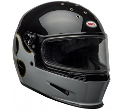 casque bell intégral Stockwell design noir flammes or