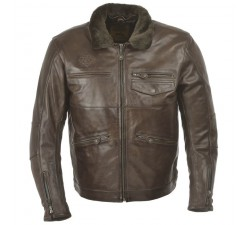 OVERLAND Leather Jacket - Brown (Cow Skin)