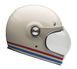 CASQUE Intégral BELL - BULLIT STRIPES Pearl White